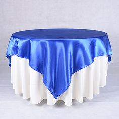 Overlays - Royal Blue - 72 Inch Square Satin Overlays