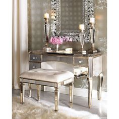 I'm dying to get a mirrored vanity!