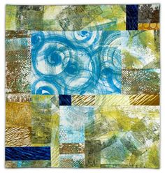"The Sea from Above, 45 x 43"", by Sandy Gregg 
