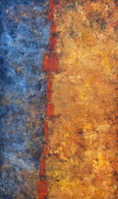 """Divided By The Orange"" 36"" x 60"" ORIGINAL ART:    www.brendaallison.com, brenda@brendaallison.com, www.facebook.com/brendaallisonart, 559-285-4311"