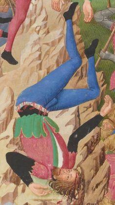 Compillation des Cronicques et ystores des Bretons, partie en III livretz, » par Pierre LE BAUT, secrétaire de Jean, sire de Derval.  Date d'édition :  1401-1500  Français 8266  Folio 21r