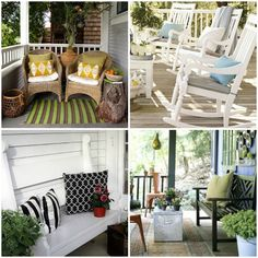 my front porch could use some color, like this front porch welcoming and functional.  #springintothedream