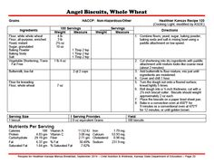Looking for SCHOOL BREAKFAST recipes? How about some WW ANGEL BISCUITS? Find these and many more from Healthier KANSAS Menus.