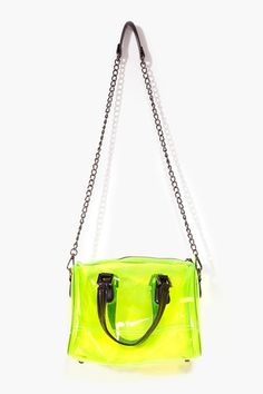 Nasty Gal. Neon plastic purse.