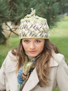 Free Pattern - This charming, quirky #crochet Zig-Zag Hat is the perfect way to add a whimsical and stylish touch to your cool-weather wardrobe.