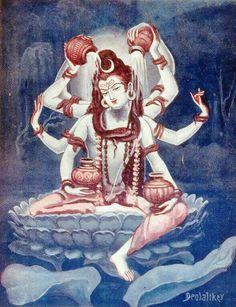 """Kalyan"" is. Shiva Shambo, Shiva Parvati Images, Shiva Linga, Shiva Art, Hindu Art, Goddess Art, Durga Goddess, Indian Gods, Indian Art"