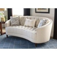 Curved Back On Tufted Sofa With Nailhead Trim Loveseats Sofas Seating Products