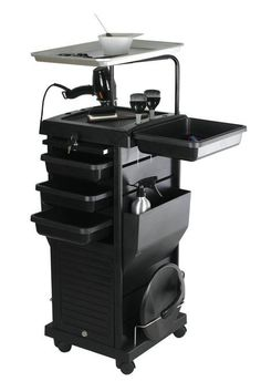 Chromatique Pro Lockable Rollabout Station Trolley With Tray – ProStylingSource Home Beauty Salon, Home Hair Salons, Beauty Room, Beauty Studio, Diy Beauty, Beauty Tips, Salon Cart, Salon Trolley, Hair Salon Stations