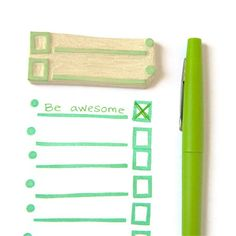 List+Lover's+List+Maker+Stamp++Hand+Carved+Rubber+by+creatiate,+$12.00