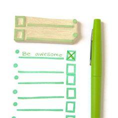 List Lovers List Maker Stamp - Rubber Stamp - Cling Rubber Stamp. $12,00, via Etsy.