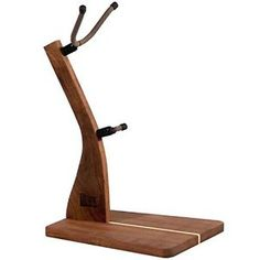 So There Wooden Saxophone Stand - Handcrafted Solid Walnut Wood Floor Stands for