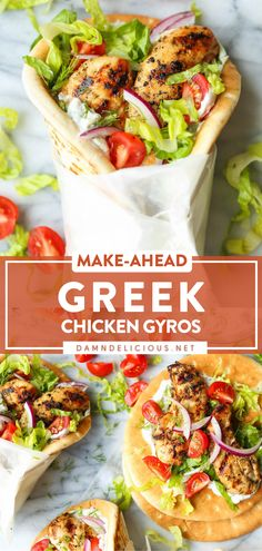 Greek Recipes, New Recipes, Cooking Recipes, Healthy Recipes, Fast Dinner Recipes, Chicken Gyros, Chicken Gyro Recipe, Greek Dishes, Mediterranean Diet Recipes