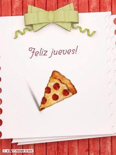 Jueves! Ya casi viernes! Disfrutemos lo que hacemos, finalicemos las tareas pendientes y vamos por nuestros sueños! Que tengan un hermoso día! #pizzeriavabene #sada #Spain