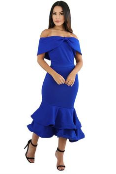 Royal Blue Bow Cape Off Shoulder Mermaid Bodycon Poncho Dress Party Long Dress, Club Party Dresses, Bodycon Dress Parties, Sexy Dresses, Blue Dresses, Fashion Dresses, Short Sleeve Dresses, Off Shoulder Mermaid Dress, Off Shoulder Dresses
