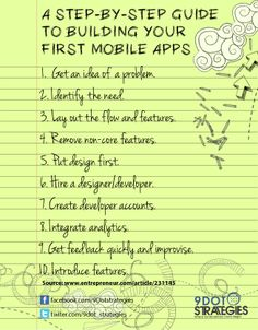 Guide to Building Your #FirstMobileApps #9dotstrategies