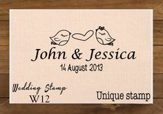 Love Bird, Monogram, Custom Wedding Stamp, RSVP, Love is Sweet, Gift for Couple, Housewarming Gift Mounted Rubber Stamp W12 on Etsy, 6,00€