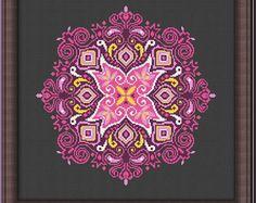 Mandala Counted Cross stitch Pattern PDF Cross by KHANNAandILAN