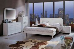 High Gloss Lacquer Platform Queen Bedroom Set W/Storage Headboard Large Home Office Furniture, Office Furniture Stores, How To Clean Furniture, Cheap Furniture, Discount Furniture, Bedroom Furniture, Furniture Cleaning, Platform Bed Designs, White Bedroom Set