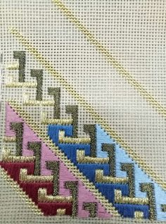 new embroidery techniques texture patterns Broderie Bargello, Bargello Needlepoint, Needlepoint Stitches, Hardanger Embroidery, Diy Embroidery, Cross Stitch Embroidery, Embroidery Patterns, Plastic Canvas Stitches, Plastic Canvas Crafts