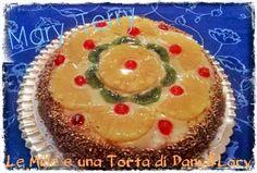 Torta ananas e kiwi con crema pasticcera