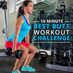 The 10-Minute Best Butt Workout Challenge was designed to hit every angle of the three major gluteal muscles. #10minute #buttworkouts #workouts