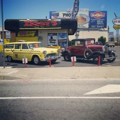 Old classic-looking used cars for sale on Beach Blvd