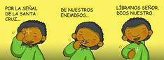 Dibujos para catequesis: POR LA SEÑAL DE LA SANTA CRUZ