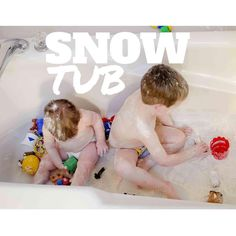❄️Snow Tub❄️ ZOMG, this activity was BANANAS. B-A-N-A-N-A-S.  Ok, here's what it is: flour + empty bath tub = kids playing for an unreal amount of time. I should rename this activity Mom Heaven  You know I love a good bath tub activity and I also love sensory time. This was perfect because it's messy sensory in an easy to clean space. Win!  Flour is one of my favorite sensory supplies because sure it's messy, but it's clean messy.