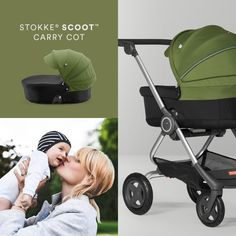 The Stokke Scoot stroller now has Carry Cot options and a Newborn Insert, making it possible to use the stroller from birth.