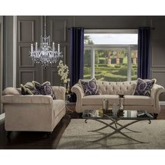 Furniture of America Agatha Traditional Tufted Loveseat - Reviews, Deals & Prices - 16550216