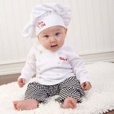 Uniform Chef Theme Baby Clothing Gift Set | Baby Shower Gift Organic  https://www.facebook.com/1442007919445558/photos/a.1444183999227950.1073741828.1442007919445558/1444183962561287/?type=1
