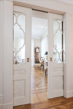 these pocket doors make me have a small heart attack. :)