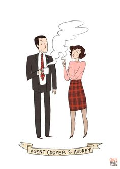 Agent Cooper and Audrey from Twin Peaks