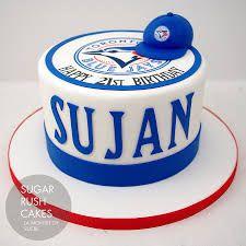 Cakes for 8 Toronto Blue Jays, Toronto Maple Leafs, Sugar Rush, Coffee Cans, Montreal, Vintage Cakes, Birthday Cake, Play, Baseball