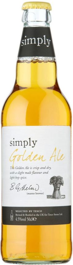 16th February 2013 ~ #DailyPint 47: Pint of Tesco Simply Golden Ale. Not bad. 7/10 [Drank at Home]