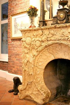 Over the top fireplace