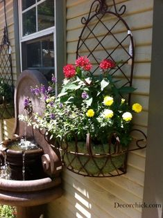 great ideas & inspiration for Container Garden Hanging Basket via @decor_chick