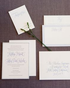 """See the """"Muted and Refined"""" in our Invitations from Real Weddings gallery"""