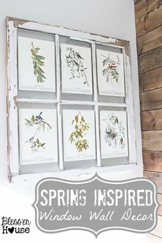 Bless'er House | Spring Inspired Rustic Industrial Window Wall Decor