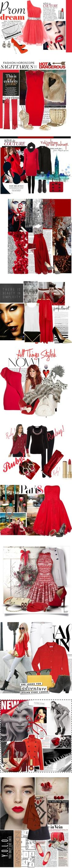 """Red 3"" by elena-indolfi on Polyvore"