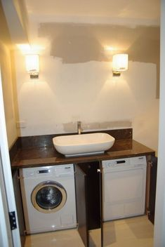 Who says that having a small laundry room is a bad thing? These smart small laundry room design ideas will prove them wrong. Laundry Room Cabinets, Basement Laundry, Laundry Room Bathroom, Small Laundry Rooms, Laundry Room Organization, Laundry Room Design, Bathroom Layout, Organization Ideas, Bathroom Cabinets