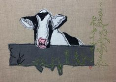 Nosey Cow - Raw Edge Applique Embroidery Design - Machine Embroidery Designs from Picturestitch, Nicola Elliott Applique Embroidery Designs, Embroidery Files, Embroidery Stitches, Raw Edge Applique, Image List, Machine Applique, Edge Stitch, Stitch Design, Cow