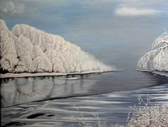 Original Landscape Painting by Costin Cristian Istian Oil On Canvas, Canvas Art, Original Paintings, Original Art, River Painting, Romania, Buy Art, Saatchi Art, Fine Art