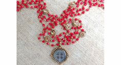 Gold SB Mono Magdalena Opaque Red/Lt Colorado Available at Trends and Traditions Boutique