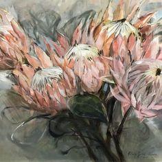Protea Art, Protea Flower, Flower Prints, Flower Art, Art Flowers, Flower Ideas, Watercolor Paintings, Floral Paintings, Art Paintings