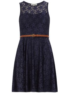Navy lace sweetheart dress - Dresses - - Dorothy Perkins United States