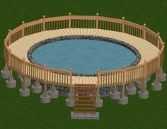 how to build a deck around an above ground pool who says you cant put a round peg in a square hole when you build a deck around an above ground pool