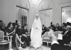 House of Dior-Kouka in Wedding Dress, 1961