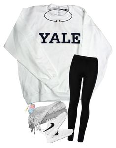 """""""•not ready for a 6 hour car ride😶•"""" by sarah-grace-m ❤ liked on Polyvore featuring Wolford, NIKE and Lilly Pulitzer"""