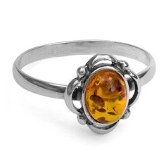 Amber Sterling Silver Victorian Style Small Oval Ring >>> Learn more by visiting the image link. (This is an affiliate link) #ILoveJewelry